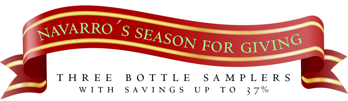Navarro's Season for Giving: Three Bottle Samplers with savings up to 37%